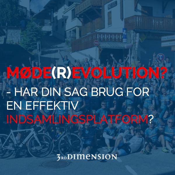 Møderevolution - Mødeevolution - Indsamlingsplatform